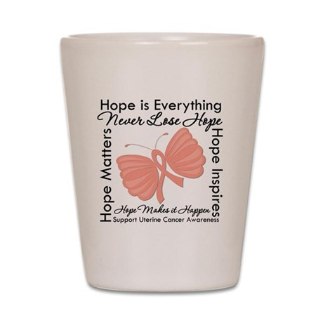 Hope - Uterine Cancer Shot Glass