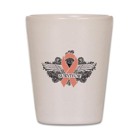 Uterine Cancer Survivor Shot Glass