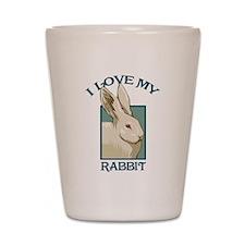 I Love my Rabbit - White Shot Glass