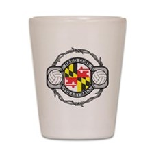 Maryland Volleyball Shot Glass