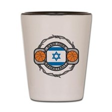 Israel Basketball Shot Glass