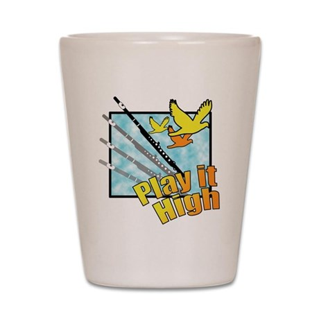 "Flute ""Play it High"" Shot Glass"