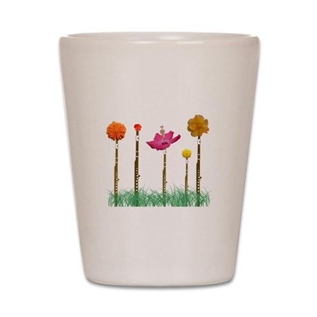 Flute Flowers Shot Glass