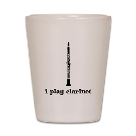 I Play Clarinet Shot Glass
