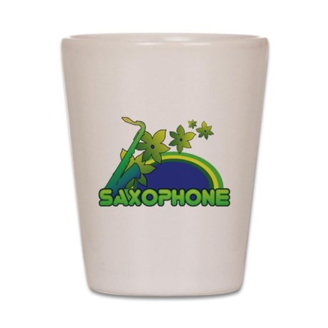 Retro Saxophone Shot Glass