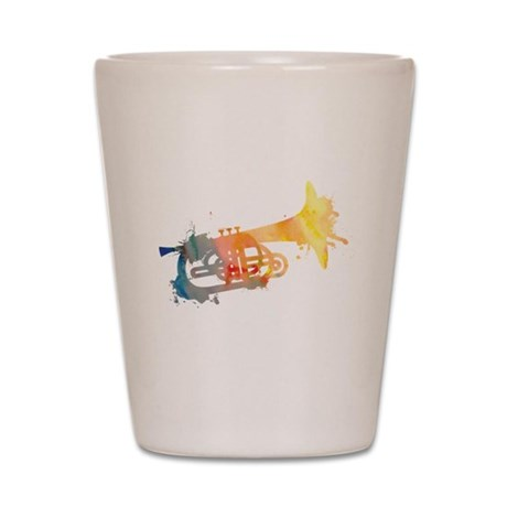 Paint Splat Mellophone Shot Glass