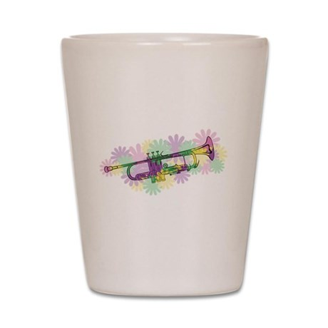 Flower Power Trumpet Shot Glass