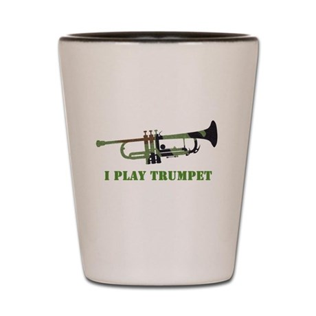 Camo Trumpet Shot Glass