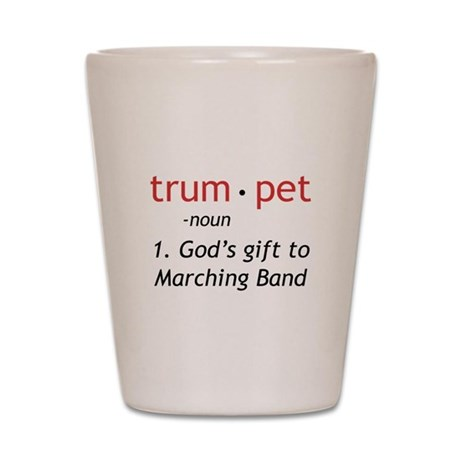 God's Gift Trumpet Shot Glass