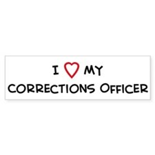 I Love Corrections Officer Bumper Stickers