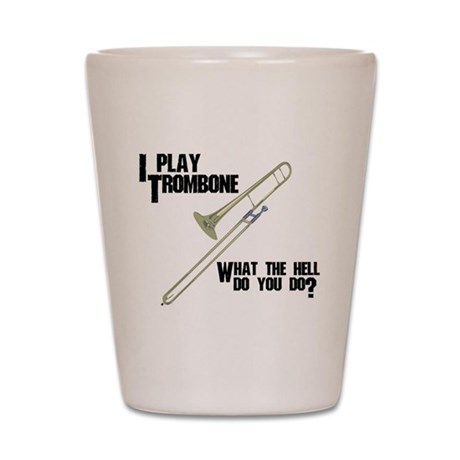 Trombone Attitude Shot Glass