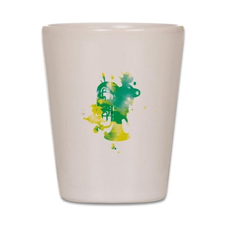 Paint Splat Tuba Shot Glass