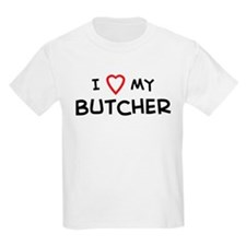 I Love Butcher Kids T-Shirt