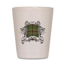 Craig Tartan Shield Shot Glass