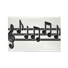 Musical Notes Rectangle Magnet (100 pack)