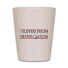 Depreciation Account Shot Glass