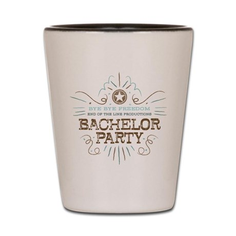 End of Line Bachelor Shot Glass