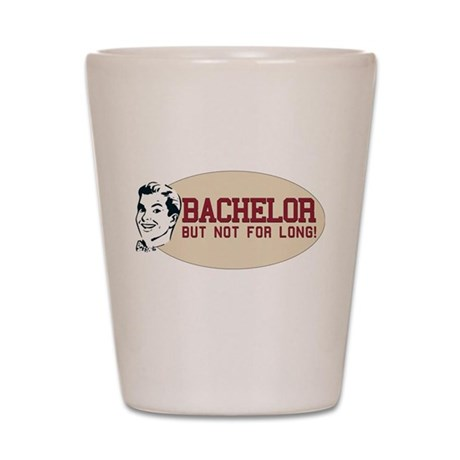 Hip Retro Vintage Bachelor Shot Glass