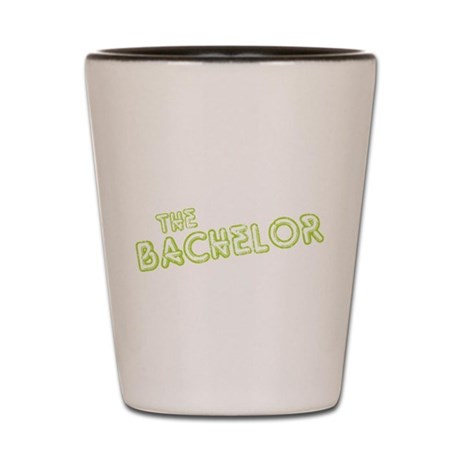 "Green ""The Bachelor&quot Shot Glass"
