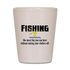 Fishing Fun Shot Glass