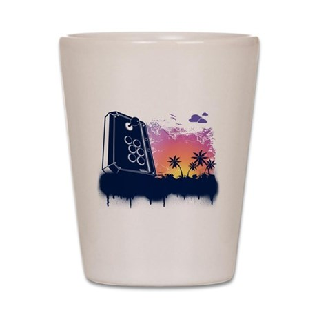 Video Game Beach Shot Glass