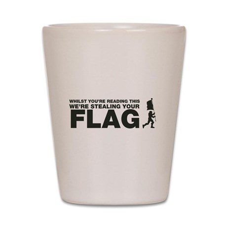 Capture The Flag Shot Glass