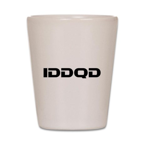 IDDQD Shot Glass