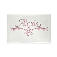 Alexis Floral Filagree Rectangle Magnet