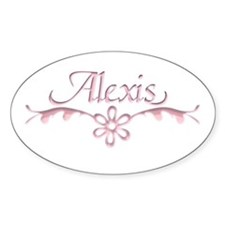 Alexis Floral Filagree Oval Decal
