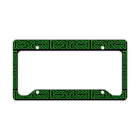 Celtic Knot Green License Plate Holder