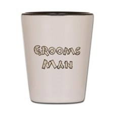 Country Wedding Groomsman Shot Glass