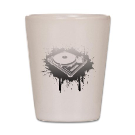 Graffiti Turntable Shot Glass