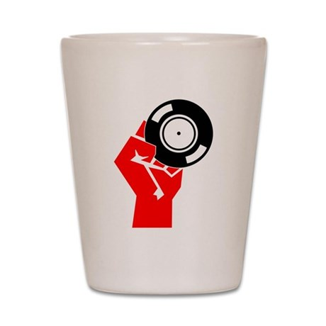 Vinyl Propaganda Shot Glass