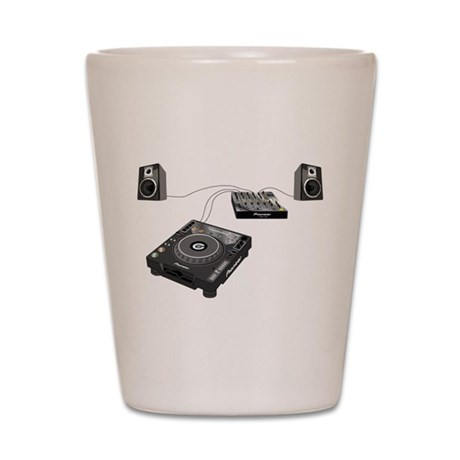 My CDJ Setup Shot Glass