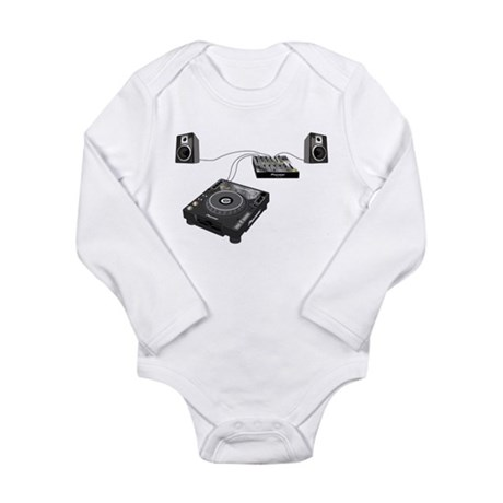 My CDJ Setup Long Sleeve Infant Bodysuit