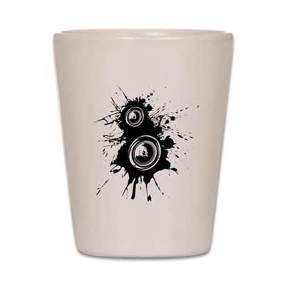 Speaker Splatter Shot Glass