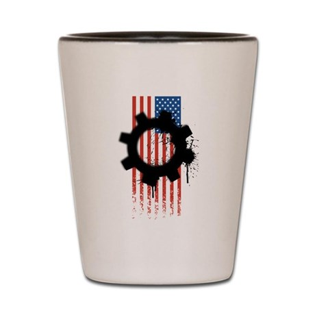 American gear Shot Glass