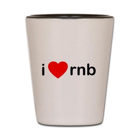 I Heart RNB Shot Glass