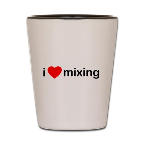 I Heart Mixing Shot Glass