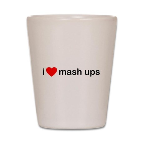 I Heart Mash Ups Shot Glass