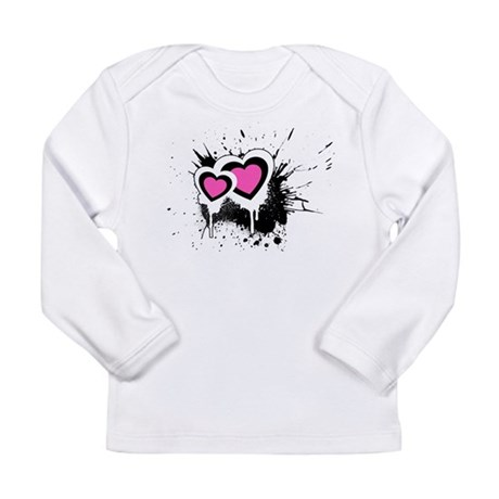 Exploding hearts Long Sleeve Infant T-Shirt