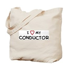 I Love Conductor Tote Bag