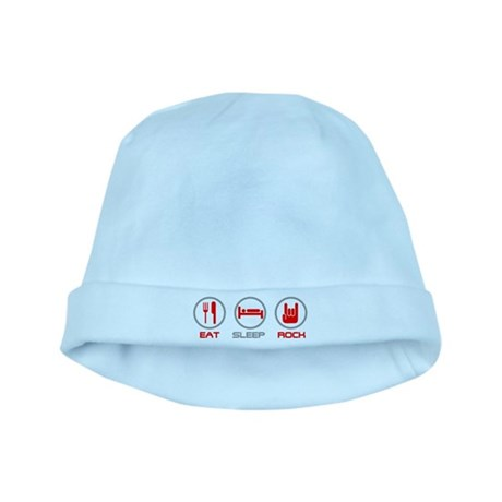 Eat Sleep Rock baby hat