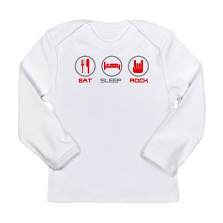 Eat Sleep Rock Long Sleeve Infant T-Shirt