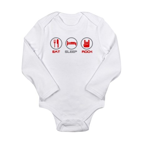 Eat Sleep Rock Long Sleeve Infant Bodysuit