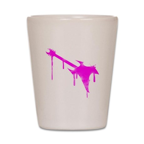 Graffiti Pink Guitar Shot Glass