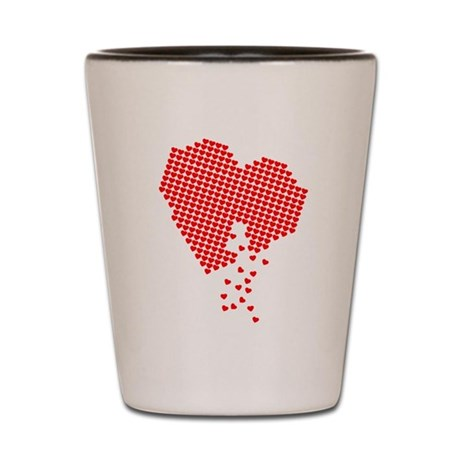 Lots of hearts Shot Glass