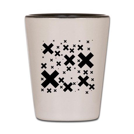Emo Crosses Shot Glass