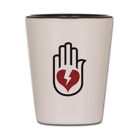 Hand On Heart Shot Glass