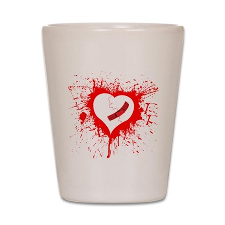 Broken Hearted again Shot Glass